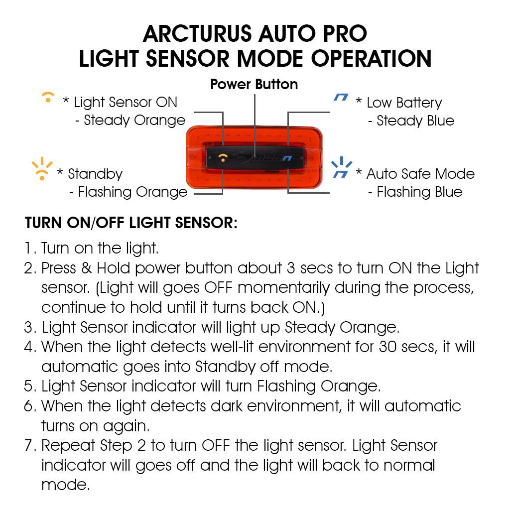 Moon Arcturus Auto Pro Sensor Operation