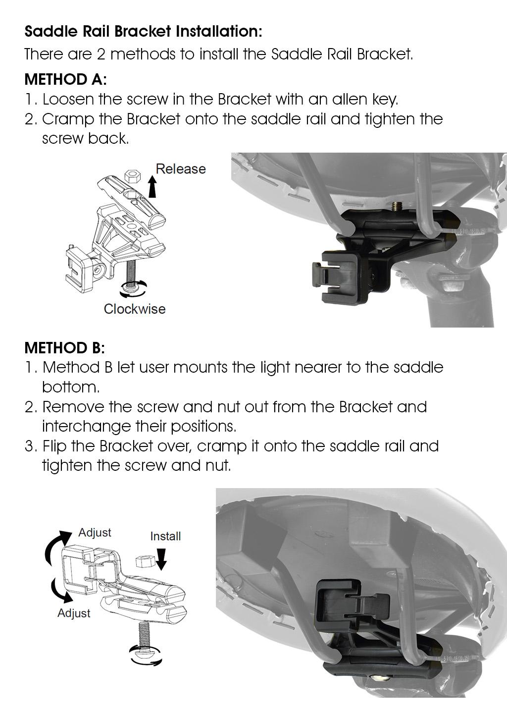 Moon Arcturus Auto Pro Saddle Rail Bracket